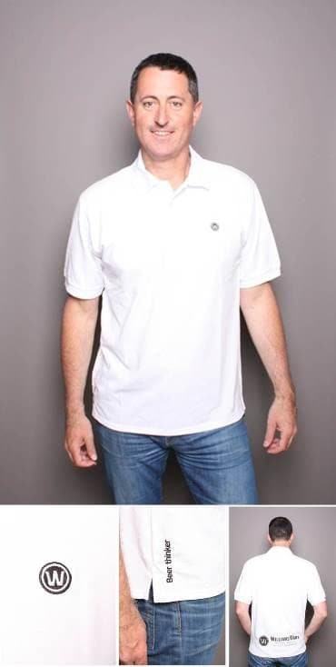 WilliamsWarn BrewKit Polo Shirt White