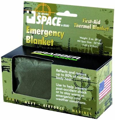 SPACE Brand Emergency Blanket - Olive Drab
