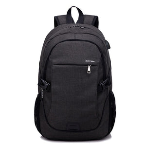 Laptop Male style Backpack Schoolbag With USB