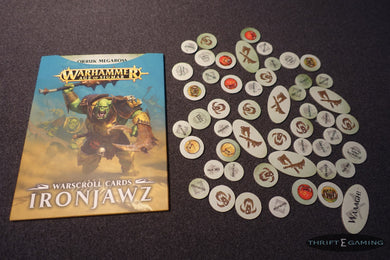 Ironjawz Warscroll Cards + Tokens