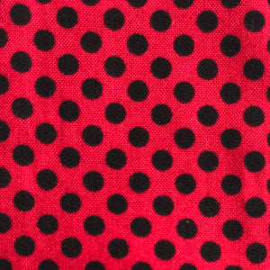 Red and Black Small Polka Dot Headwrap