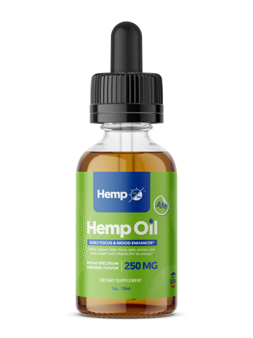 Hemp AM - Daytime - Broad Spectrum Hemp Extract Oil Tincture