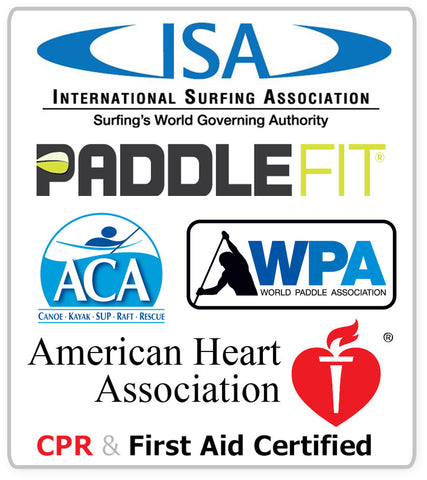 ISA Paddlefir ACA WPA AHA CPR and First Aid Certified