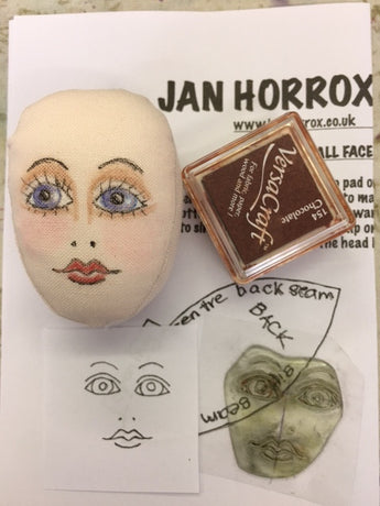 Face Stamp for small doll.