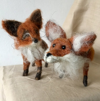 Red Fox - needle felted by Jan Horrox