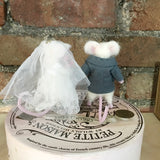 Wedding Topper Mouse Couple