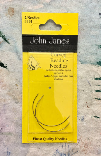 Curved Beading Needles.  John James.