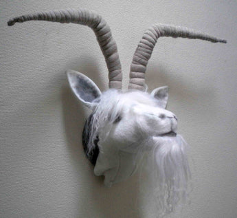 Goat With Horns Trophy Head - Paper Pattern -