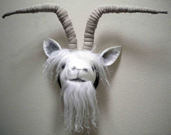 Goat Trophy Head made by Jan Horrox