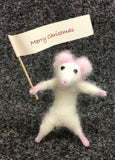 Mini Mouse needle felted by Jan Horrox