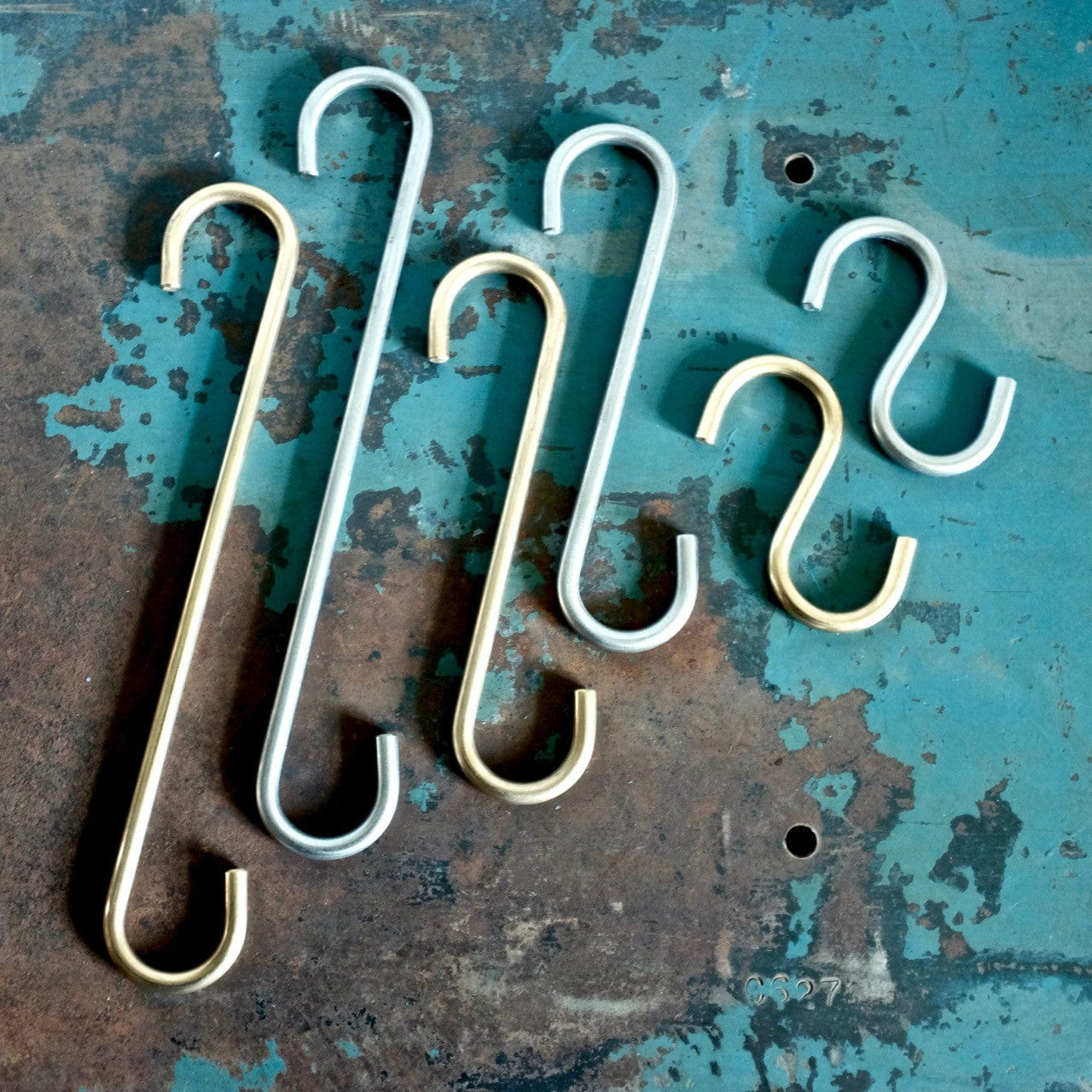 Brass and Stainless S hooks 1/4""