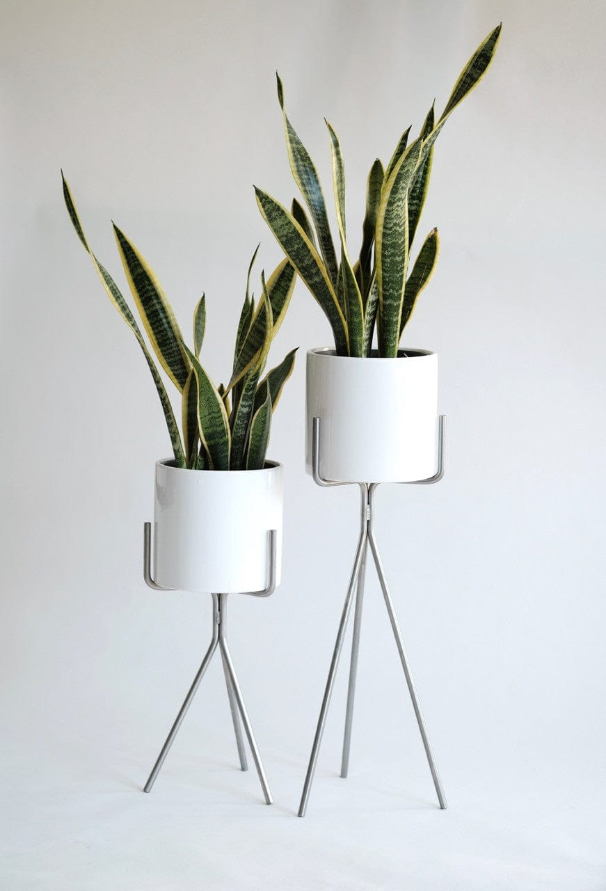 Three Rod Planters with pot