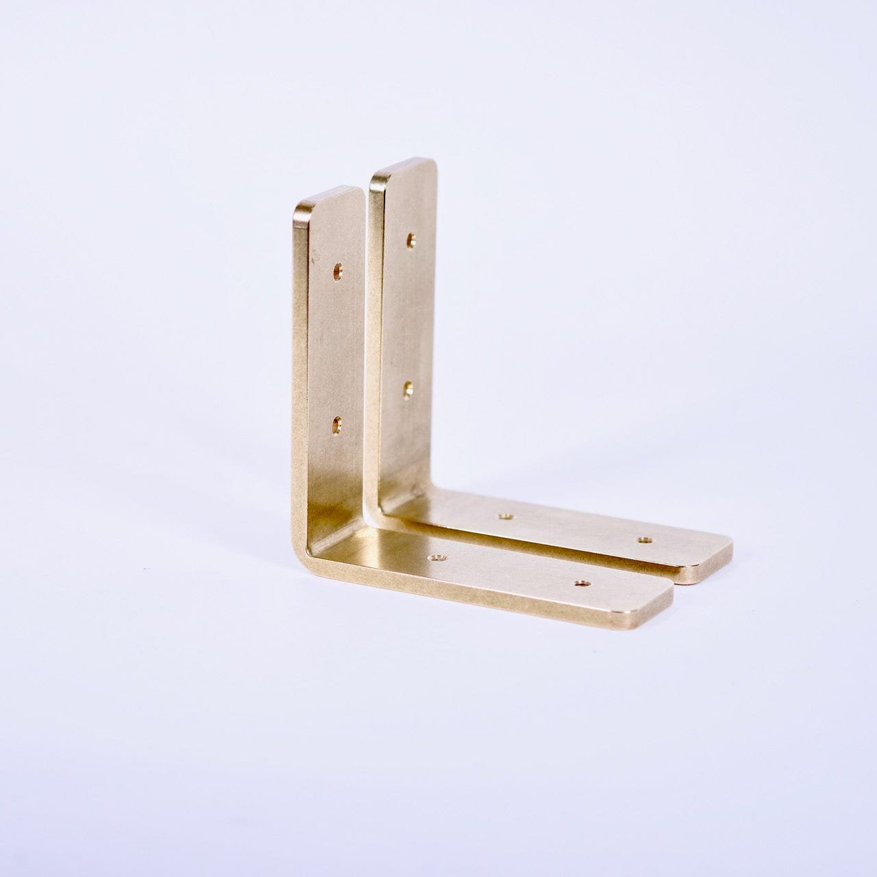 Brass shelf bracket set of 2
