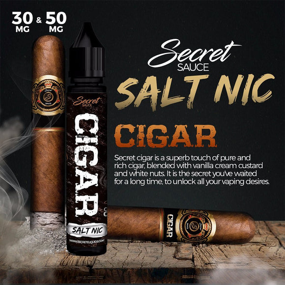 CREAMY CIGAR BY SECRET SAUCE SaltNic - 30ml - Vape Marche