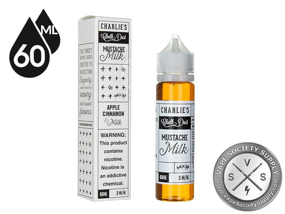 CHARLIE'S CHALK DUST - MUSTACHE APPLE CINAMON AND MILK - 60ML