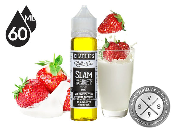 CHARLIE'S CHALK DUST - SLAM BERRY STRAWBERRY AND MILK - 60ML