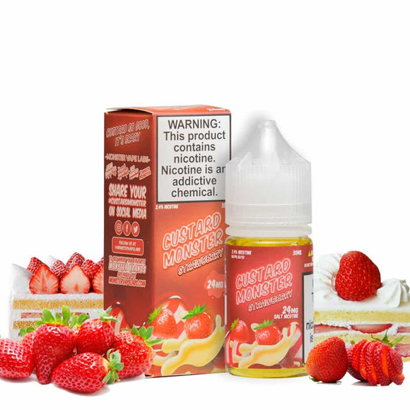 CUSTARD MONSTER STRAWBERRY BY JAM MONSTER SALTNIC