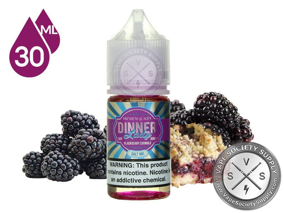 BLACKBERRY CRUMBLE SALTNIC BY DINNER LADY - 30MG - Vape Marche