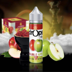 DOUBLE APPLE (SHISHA) DROPS BY BLIS 60ml - 0MG - Vape Marche
