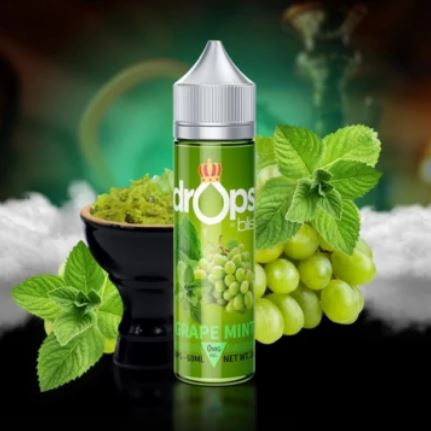 GRAPE MINT (SHISHA) DROPS BY BLIS 60ML - 0MG - Vape Marche