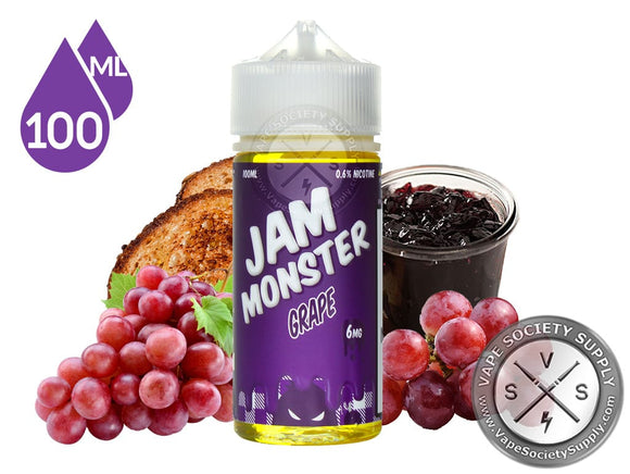 GRAPE JAM - JAM MONSTER 100ML - 3MG - Vape Marche