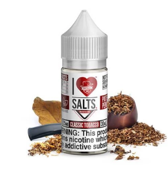 I Love Salts by Mad Hatter - Classic Tobacco 30ML - 25MG - Vape Marche