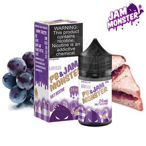 PB & JAM GRAPE SALTNIC BY JAM MONSTER - Vape Marche
