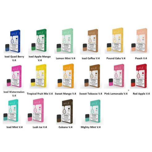 MYLE V4 PODS - All Flavours