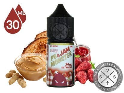 PB & JAM STRAWBERRY SALTNIC BY JAM MONSTER - Vape Marche