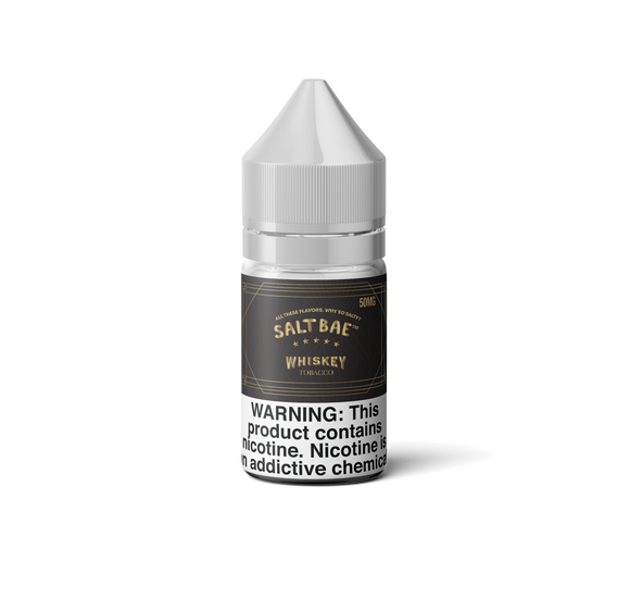 WHISKY TOBACCO SALTNIC FROM SALTBAE - 25MG - Vape Marche