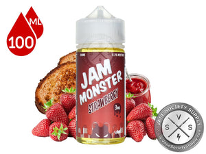STRAWBERRY BY JAM MONSTER ELIQUID 100ML - 3MG - Vape Marche