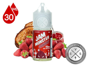 STRAWBERRY BY JAM MONSTER SALTNIC - Vape Marche