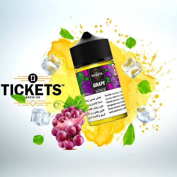 TICKETS E JUICE - GRAPE 50ML - 3MG - Vape Marche