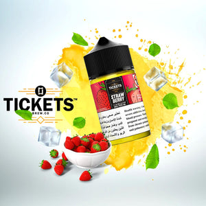 TICKETS E JUICE - STRAWBERRY 50ML