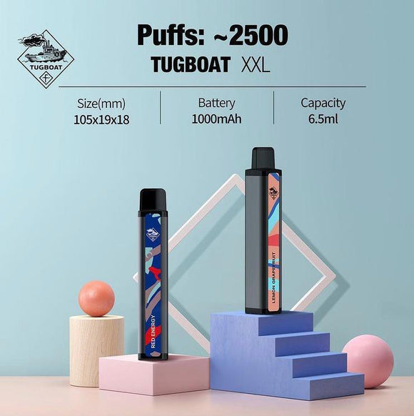 TUGBOAT XXL DISPOSABLE PODS 2500 PUFFS