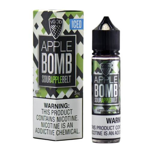 ICED APPLE BOMB - VGOD 60ML - 0MG - Vape Marche