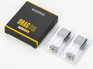 Drag NANO and ZIP Replacement pods - VOOPOO - POD-S1 1.0ml - 1.8ohm - Vape Marche