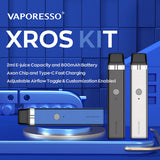 VAPORESSO XROS 16W POD SYSTEM - SPECIFICATIONS