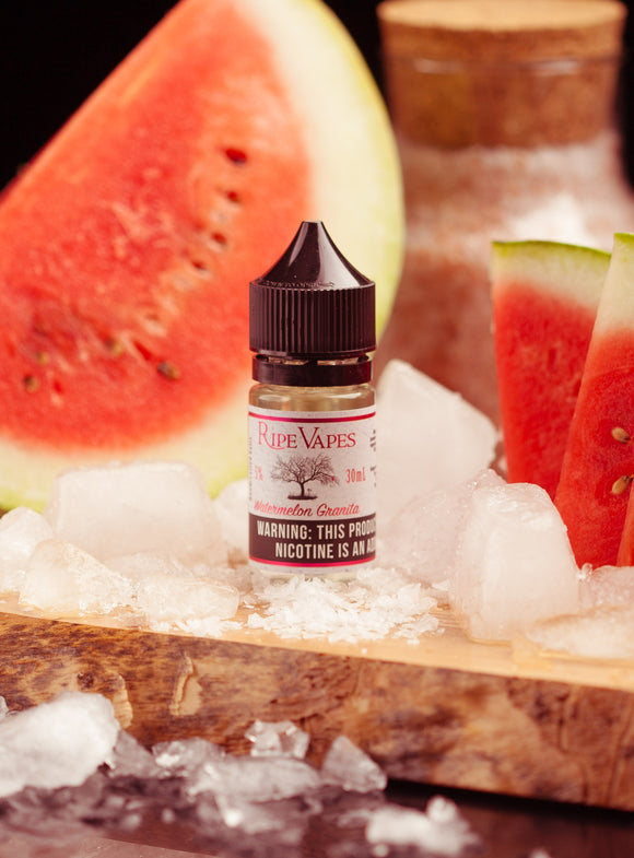 Handcrafted Saltz Watermelon Granita by Ripe Vapes - 50mg - Vape Marche
