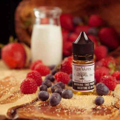 Handcrafted Saltz – Berries and Cream - 50MG - Vape Marche