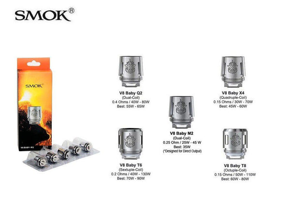 SMOK V8 BABY REPLACEMENT COILS - Vape Marche