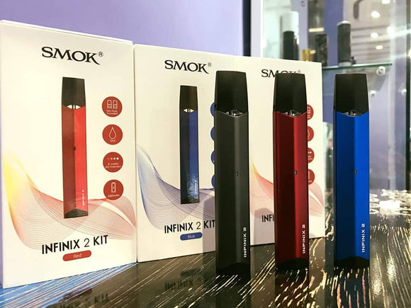 Authentic SMOK INFINIX 2 KIT - Red - Vape Marche