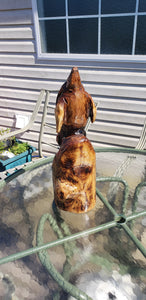 Chainsaw Carving Turtle, Chainsaw carved turtle, oak turtle, free shipping