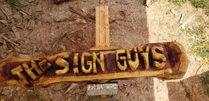 CHAINSAW Carved Name Log Sign, 4 foot  Personalized Custom Family Name Log