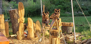 Chainsaw Carving Owl. Chainsaw carved Owl, custom owl carving. 3ft tall, Personalized, Wood Sculpture, Custom Wood Owl Carving