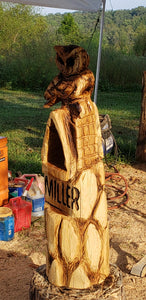 Chainsaw Carving Owl. Chainsaw carved Owl, custom owl carving. 3ft tall, Personalized, Wood Sculpture, Custom Wood Owl Carving . Free Shipping