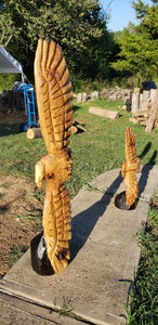 5 foot Chainsaw Carving Soaring Eagle, Custom Carved Eagle