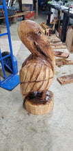 Load image into Gallery viewer, Chainsaw Carving Pelican.  Custom Made 3ft  Oak Pelican. Pelican Carving, Pelican Statue, Free Shipping