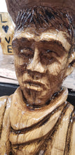 Load image into Gallery viewer, Chainsaw carving figures. Chainsaw Art, Chainsaw carving sculptures, Custom Chainsaw Carving, Wood Sculpture.
