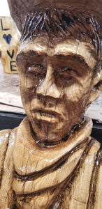 Chainsaw carving figures. Chainsaw Art, Chainsaw carving sculptures, Custom Chainsaw Carving, Wood Sculpture.